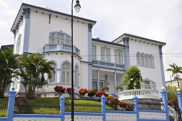 Castillo Azul, an iconic building in Costa Rica